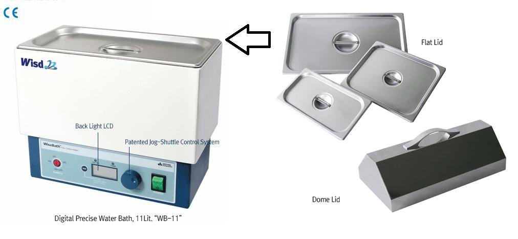 Accessories for Water Bath - Flat Lid, Stainless Steel for 11 Lit