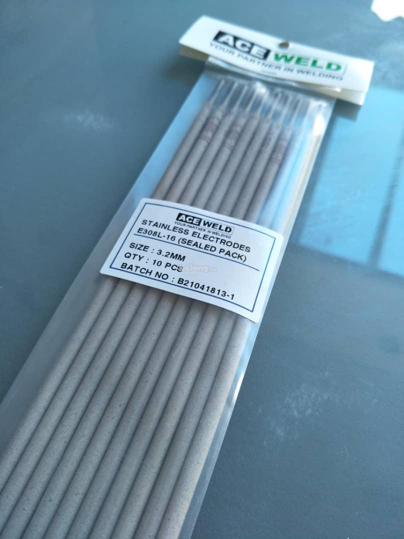 ACE WELD STAINLESS STEEL ELECTRODE E308L- 3.2MM SEALED PACK