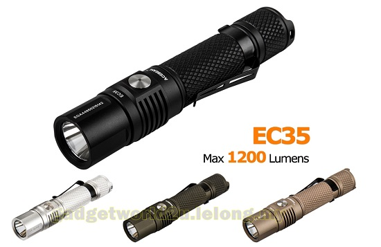 AceBeam EC35 CREE XP-L LED Flashlight 1200 Lumens