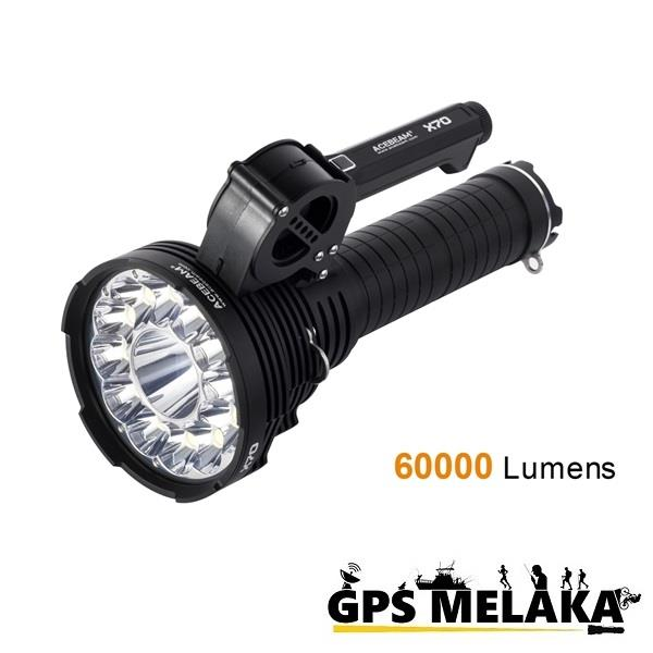 Acebeam X70 High Power LED Searchlight/Flashlight - 60,000 Lumens