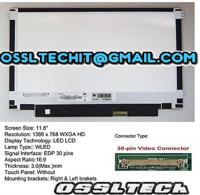 ACER 11 6 SLIM 30PIN Left & Right Screw Hold Laptop LED Screen Panel