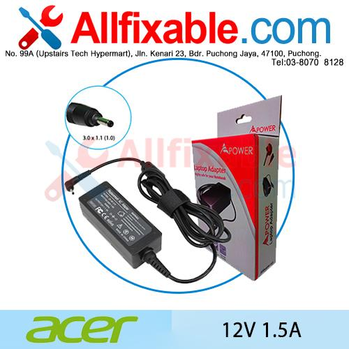 Acer 12V 1.5A Iconia Tab A500 A501 A510 A511 Adapter Charger