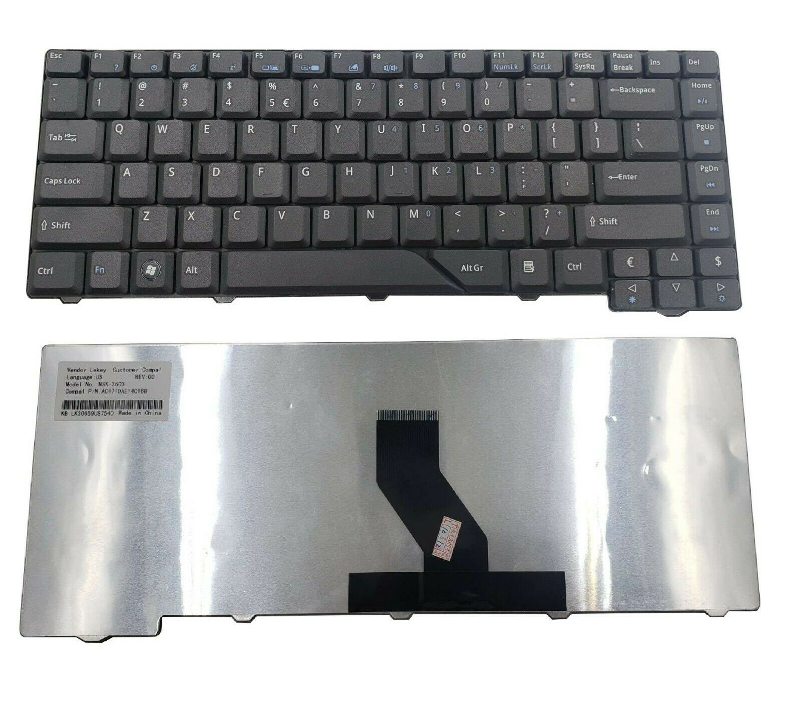 ACER Aspire 4710 5920 4530 4910 5720 4715 4730Z 4937 4930G KEYBOARD