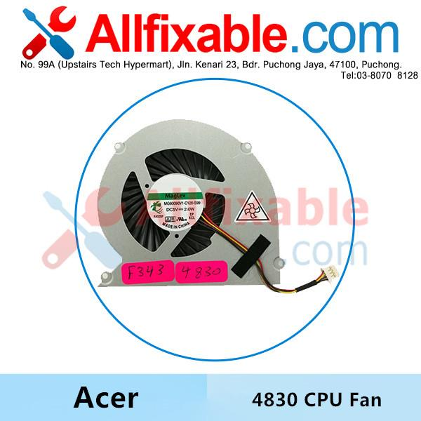 Acer Aspire 4830 4830T 4830G 4830TG 3830 3830T 3830TG 5830 CPU Fan