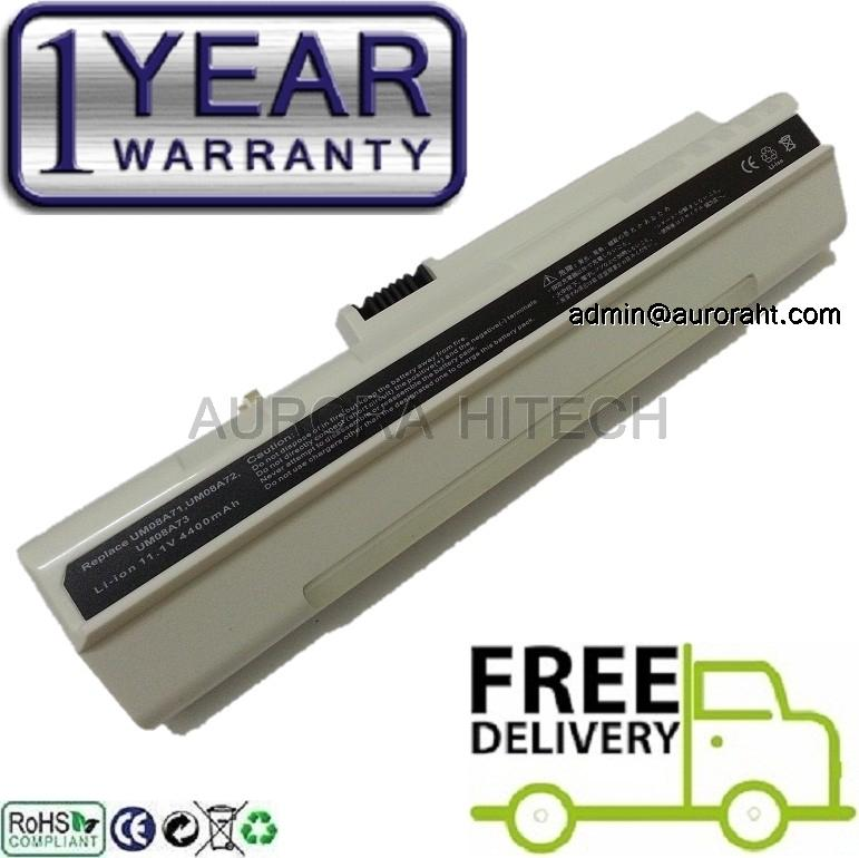 Acer Aspire One D250 P531h UM08A72 UM08A73 5200mAh Battery Wht
