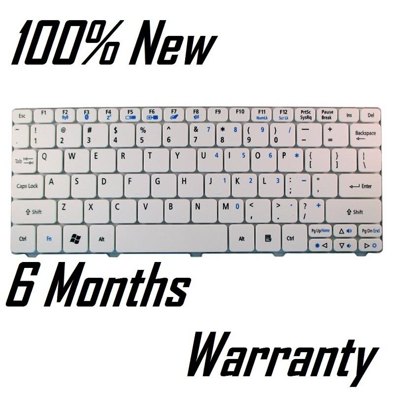 Acer Aspire One D255 D257 D260 532 532H AO532 Laptop Keyboard White. ‹ ›