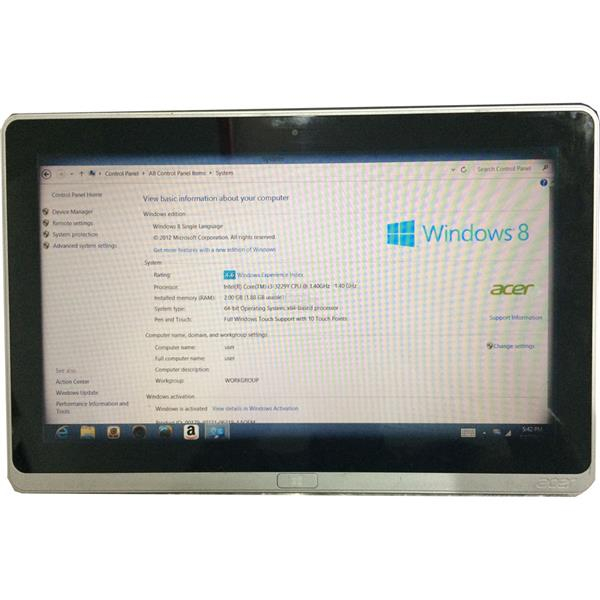 Used Acer Aspire P3 Tablet 11.6' Touch ( Core i3-3rd, 2GB, 64GB SSD )