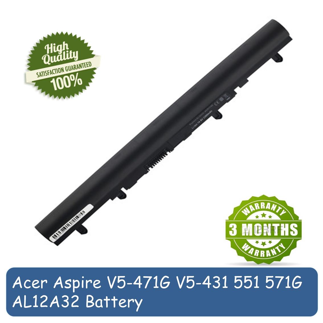 Acer Aspire V5-471G V5-431 V5-551 V5-571G AL12A32 Laptop Battery