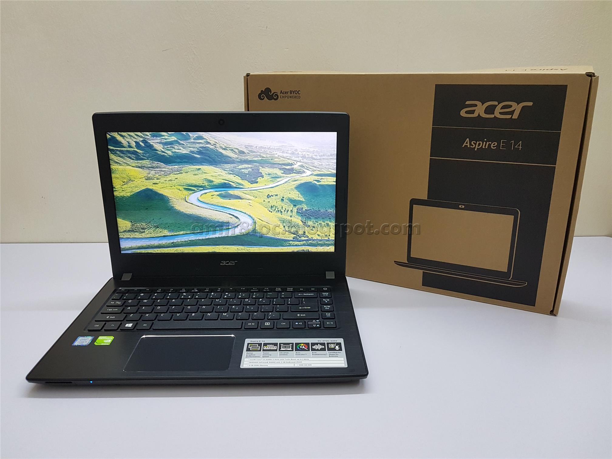 Promo Acer Aspire E5 475g 5574 Gr Notebook I5 7200u Ram 4gb Hdd 1tb Grey Ddr4 Gt940mx 2gb Ddr5 Dos Jual Welcome To