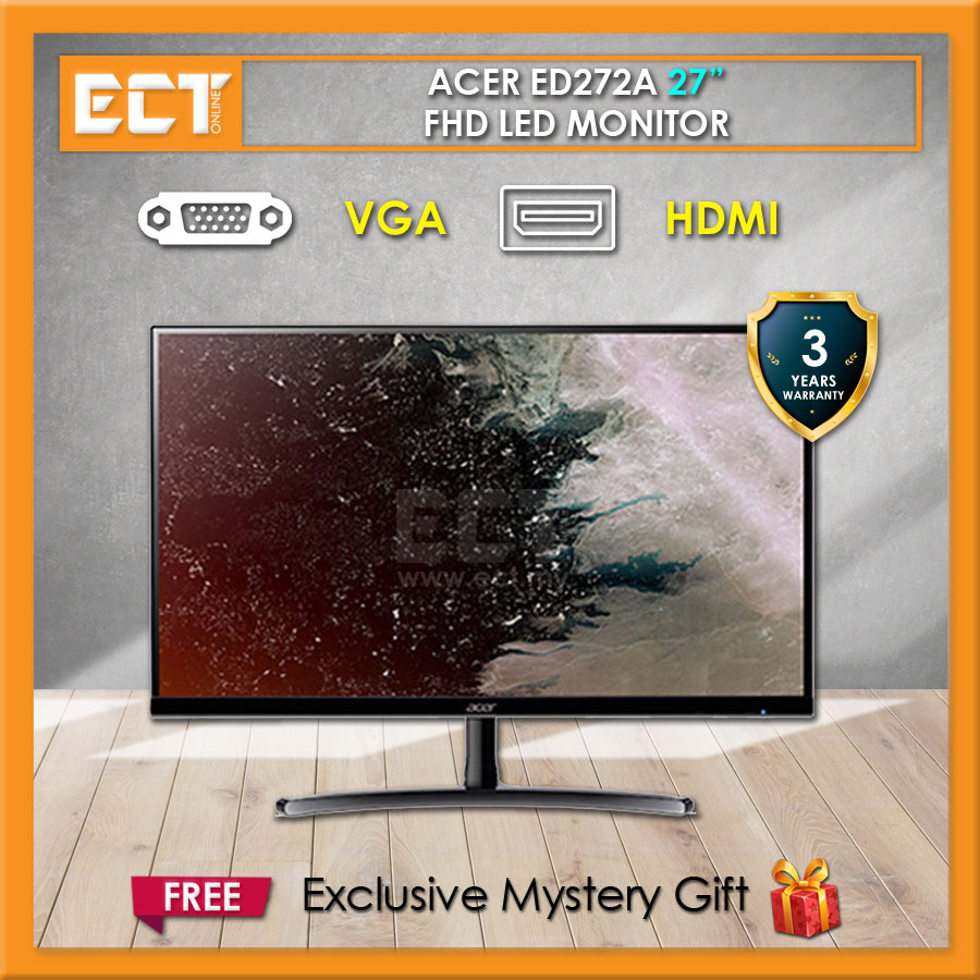 "Acer ED272A 27 "" FHD (1920 x 1080) 4MS LED IPS Monitor (VGA+HDMI)"