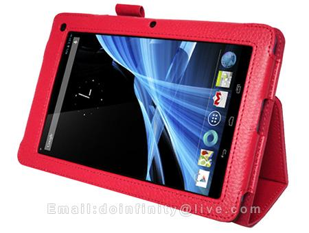 New Acer Iconia B1 A71 7 Tablet Red PU Leather Stand Case Cover
