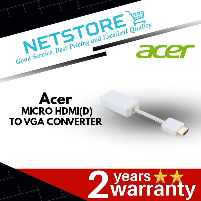 ACER MICRO HDMI(D) TO VGA CONVERTER - VIDEO CABLE | WHITE