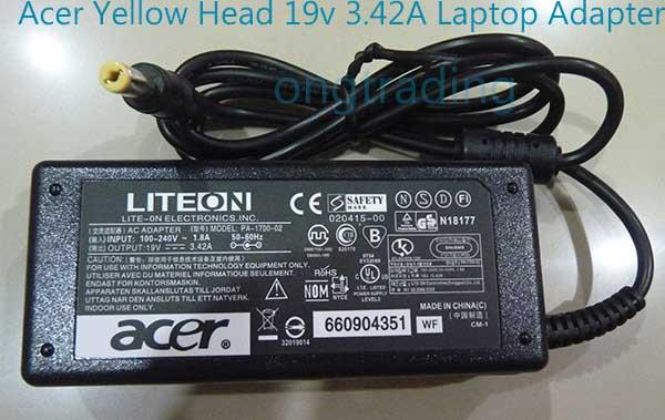 Acer Notebook AC Adapter 19V 3.42A High Quality