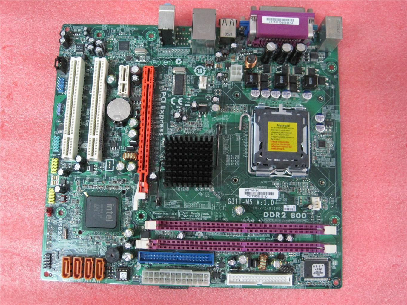 ECS G31T-A Intel Chipset Drivers