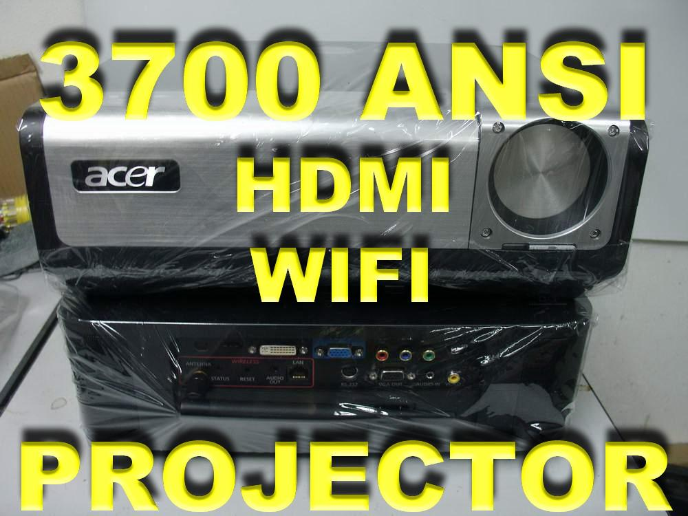 ACER PD726W HOME THEATER DLP PROJECTOR- 3700 ANSI ,HDMI , WIRELESS