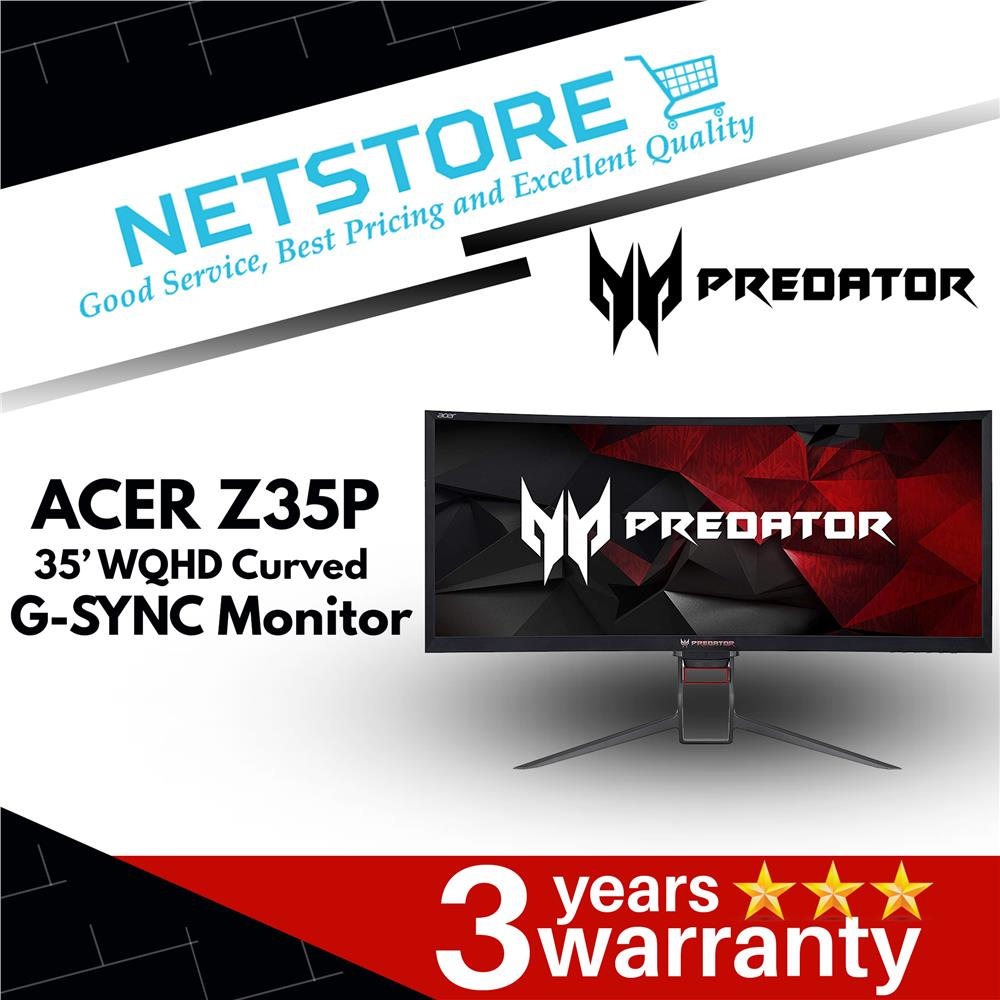 Acer Predator Z35P 35' UW-QHD (3440x1440) 120Hz OC LED Gaming Monitor