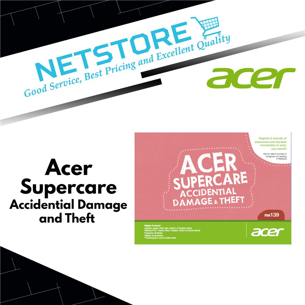 Acer SuperCare - Accidental Damage & Theft
