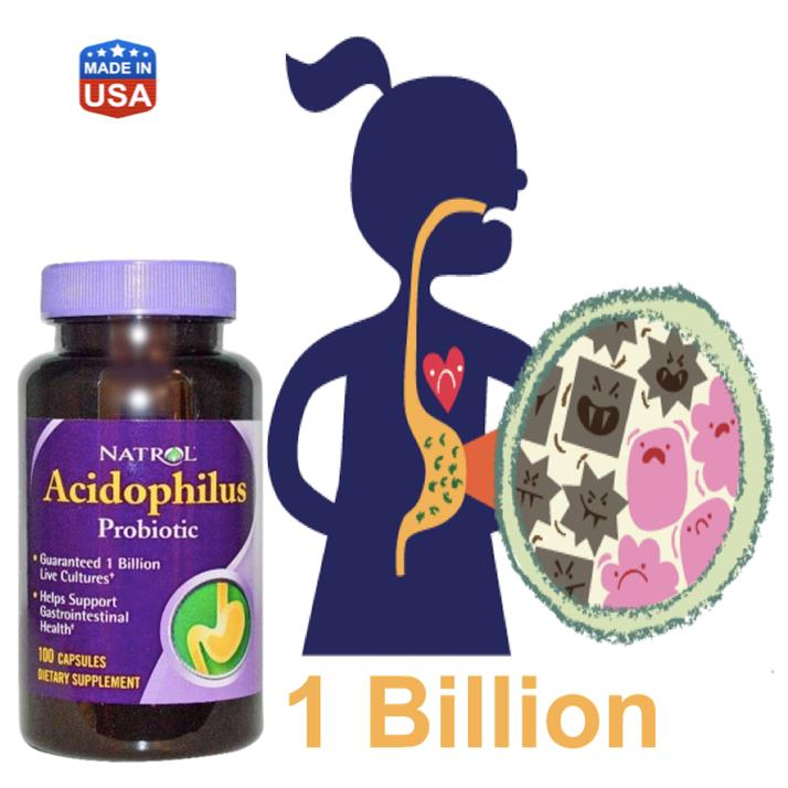 Acidophilus Probiotic 100mg 1 Billion live cultures Probiotics (USA)