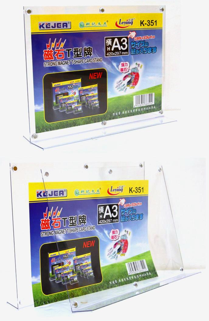Acrylic A3 Paper Stand A4 Paper Display Stand Holder Magnetic