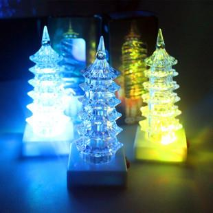 Acrylic Material Pagoda 7 Color Lamp