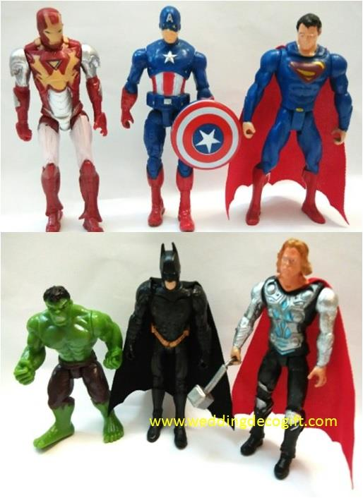 Action Figures Superman,Captain America, Batman,Iron Man, Hulk-AVF11