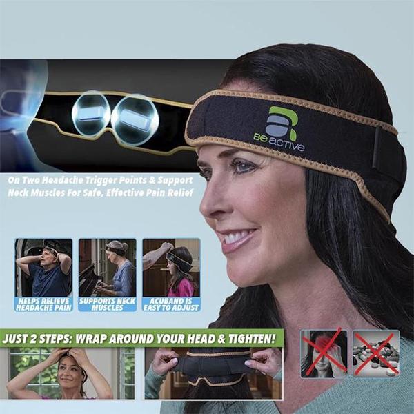ACUBAND HEADACHE PAIN RELIEF ACU PRESSURE SYSTEM
