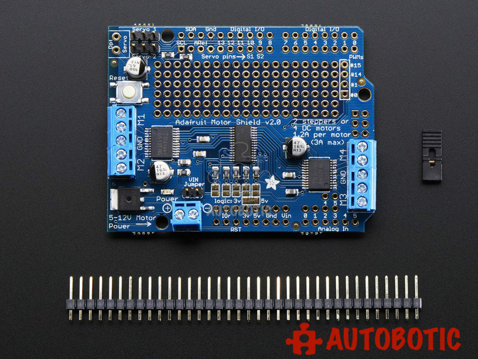 Adafruit Motor/Stepper/Servo Shield for Arduino v2 Kit - v2.3. ‹ ›