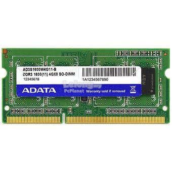 ADATA Premier 4GB/8GB DDR3L 1600 NOTEBOOK RAM