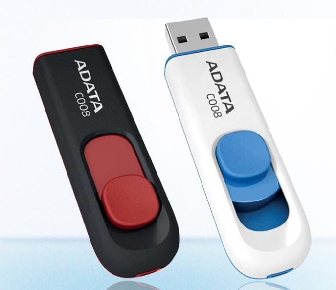 ADATA USB2.0 THUMB FLASH DRIVE C008 16GB (BLK)