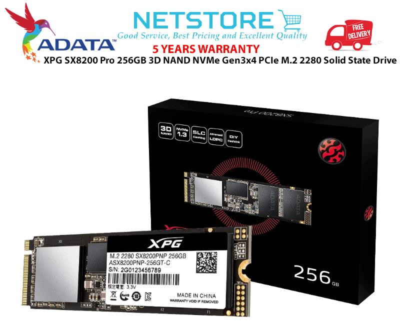 ADATA XPG SX8200 Pro 256GB 3D NAND NVMe PCIe M 2 SSD Solid State Drive