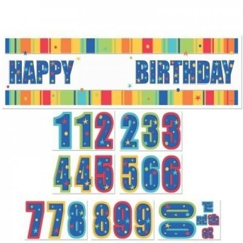 Add An Age Customizable Giant Banner A Year to Celebrate Happy Birthda