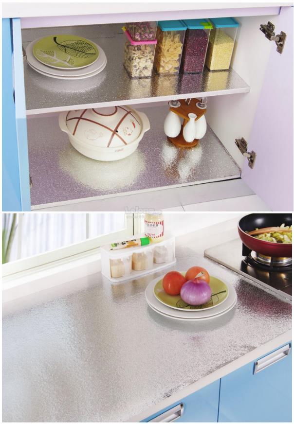 Self-adhesive Waterproof Kitchen Anti Oil Aluminium Foil Stickers