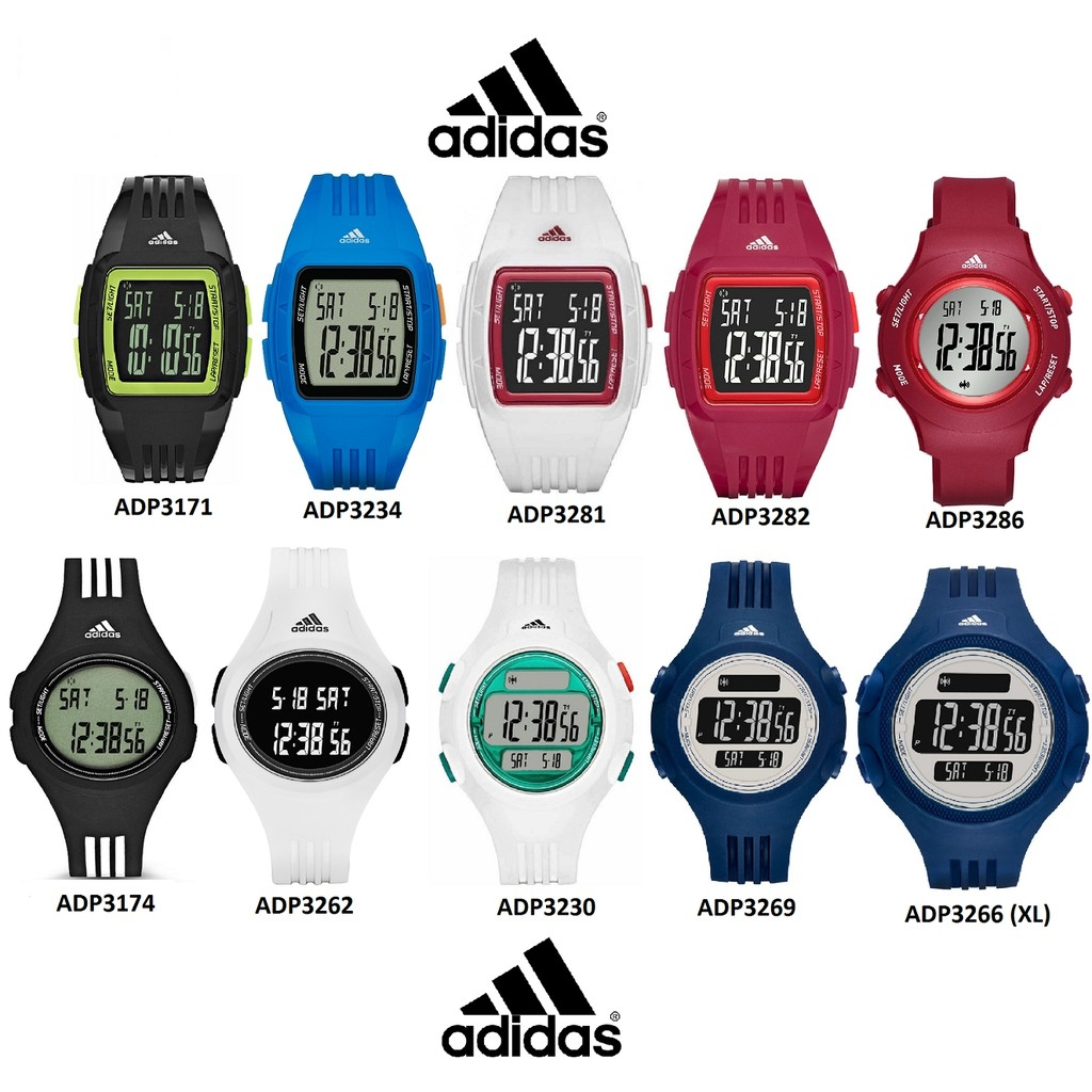 Adidas Performance 100% Original Resin Strap Unisex Watch TWO (2) Years Warran