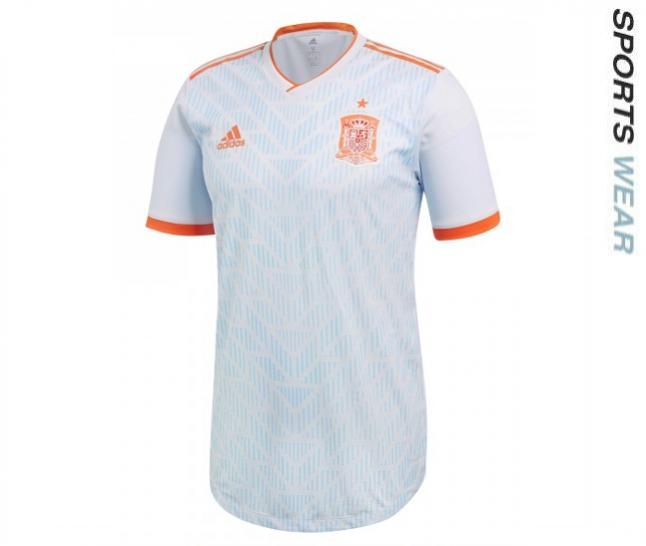 Adidas Spain 2018 Authentic Away Shirt - White BR2687 -BR26-87
