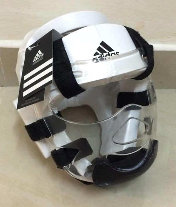 0bfa9bb6be0a Adidas Taekwondo Karate Silat Head Gear Protector Face Protection. ‹ ›