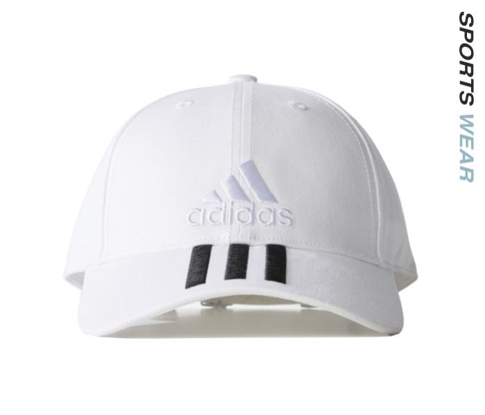 Adidas Training Six-Panel Classic 3-Stripes Cap - White BK0806 -BK08-0..