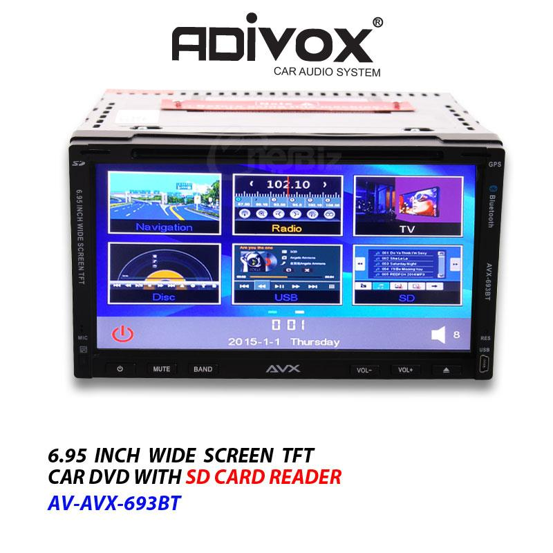 Adivox - 6 95 Inch Wide Screen TFT Car DVD With SD Card Reader