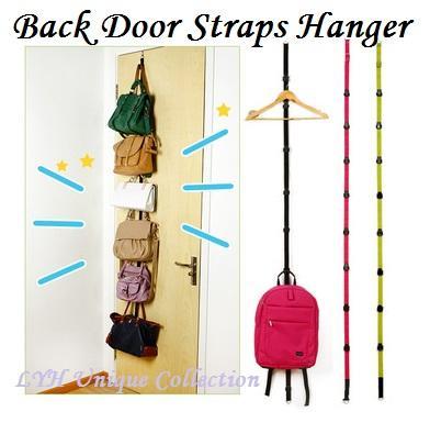 Adjustable Bag Rack Over Door Straps Hanger Handbags Clothes Organizer