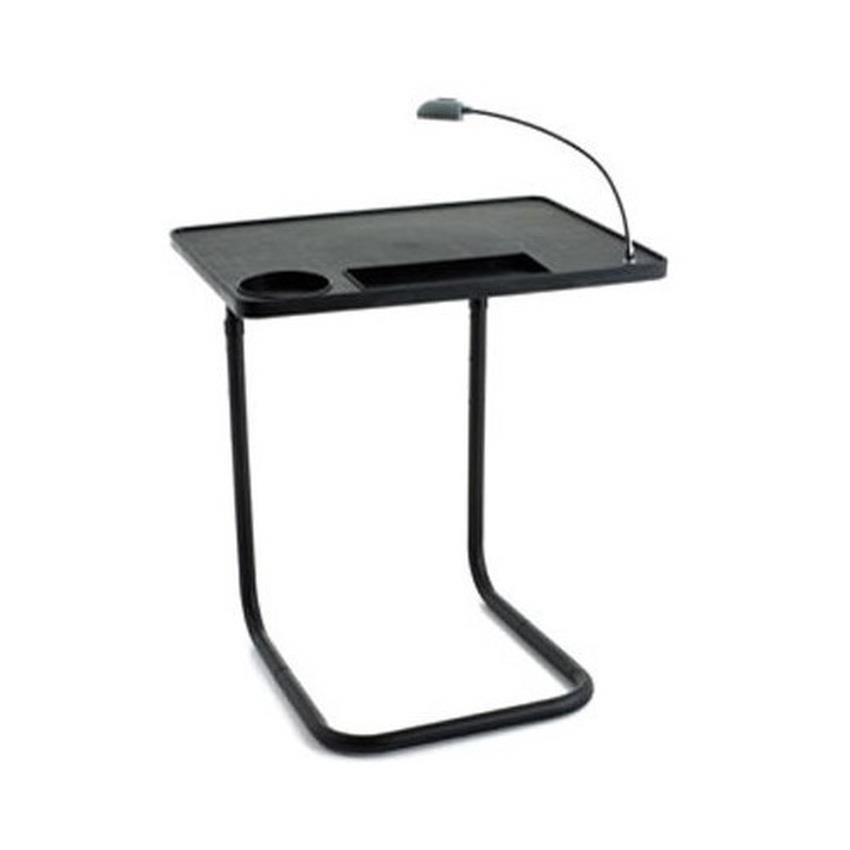 Adjustable Bedside Table With Cup Holder And LED Light