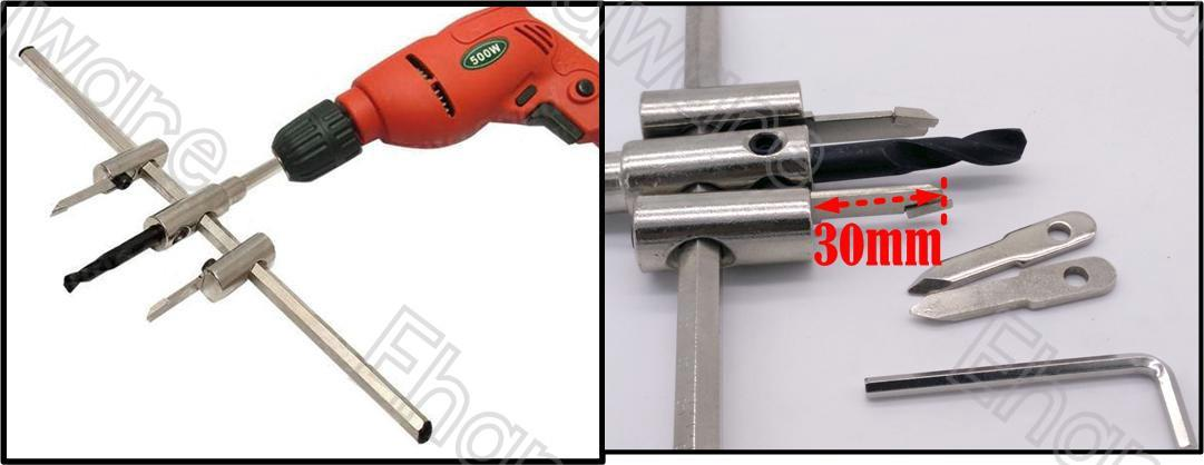 Adjustable Bore Hole Cutter 30-300mm (CIR300)