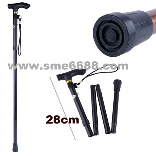 *Adjustable Foldable^ Aluminium cane Walking Stick Pole Tongkat lipat