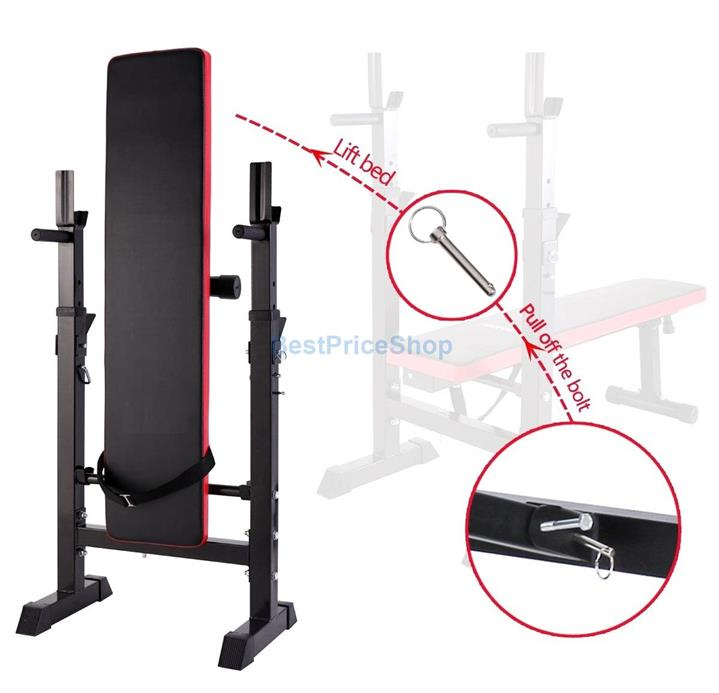 Adjustable Foldable Weightlifting Fitness Workout Dumbbell Bench YL-03