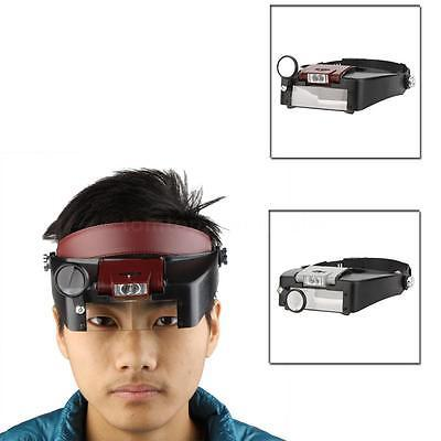 Adjustable Headband Magnifier Magnifying Glass with LED Light