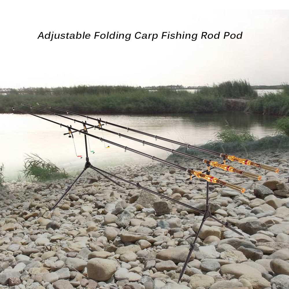 Adjustable Retractable Carp Fishing Rod Pod Stand Holder Fishing Pole Pod Stan