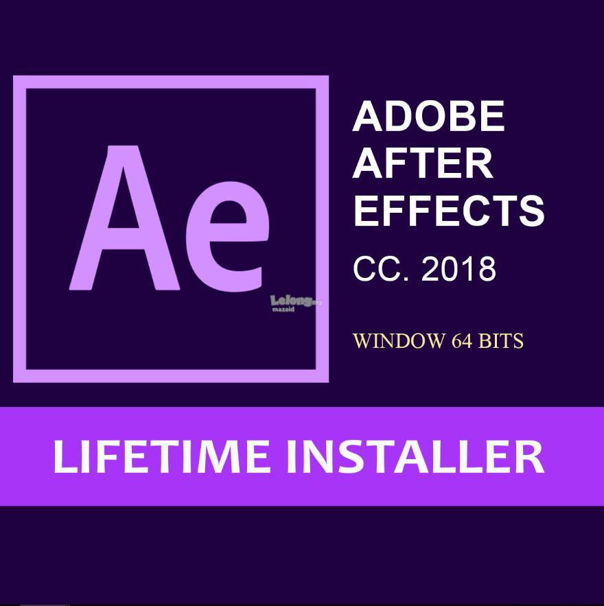 Adobe After Effects CC 2018 for win/ mac