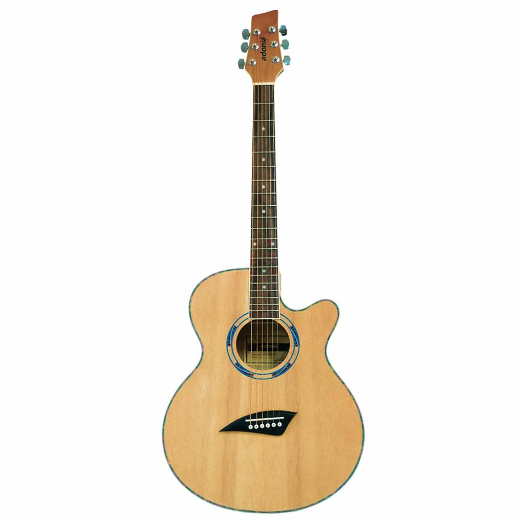 Adonis AGW-4015 Acoustic Guitar (Natural) + High Quality Padded Guitar