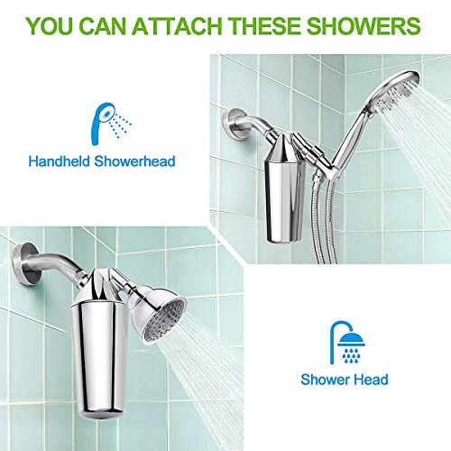 ~ ADOVEL Shower Head Filter, 16 Stage Long Lasting High Output Universal Showe