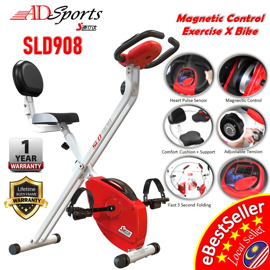 ADSports SLD908 Magnetic X Bike Cardiovascular Home Gym Exercise Bike