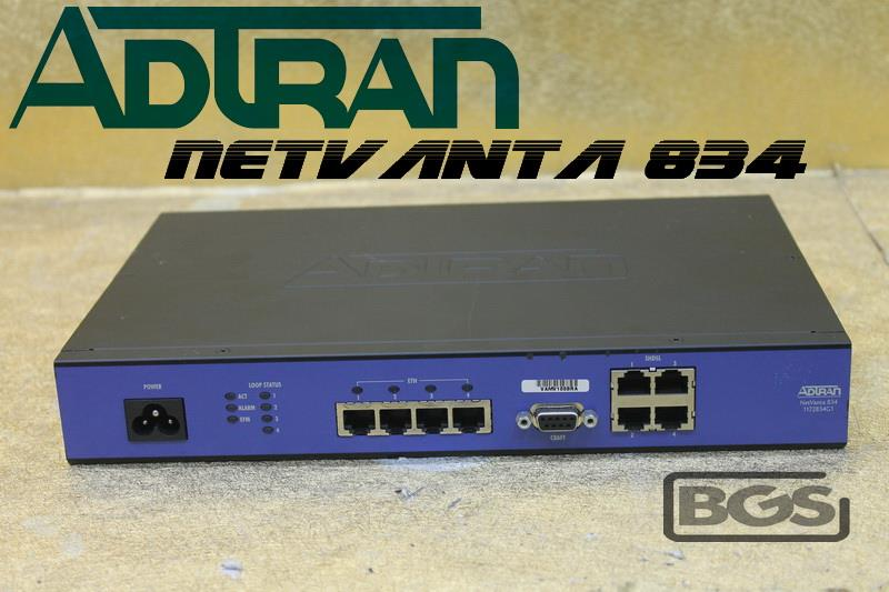 ADTRAN NetVanta 834T / 4 Port - SHDSL EFM NTU Switch 1172834G1