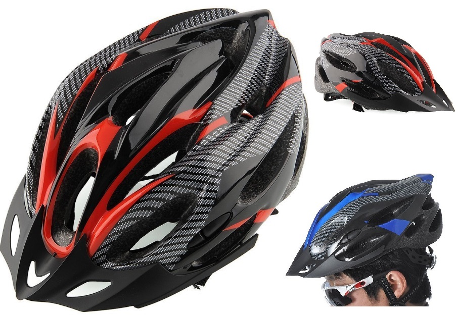 NEW ADULT BICYCLE HELMET WITH HEAD LOCK  & VISOR SAFETY BREATHER DURAB